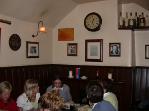 Inklings meeting room, Eagle and Child Pub, Oxford