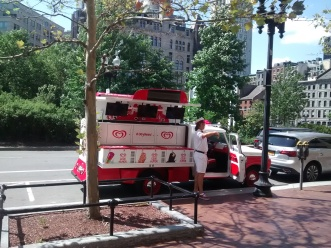 This guy was giving away ice cream in downtown Boston. I love this town!