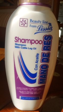 Finally, the power of calf's leg oil in a shampoo. What a country we live in!