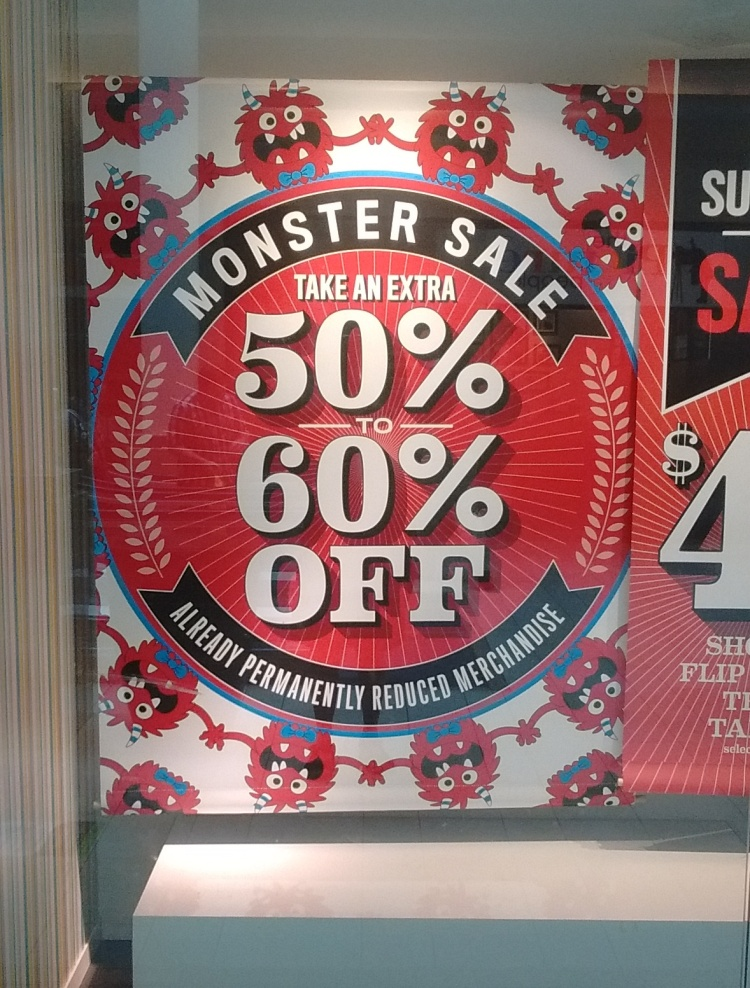 It's bad enough that there's a store selling monsters at a discount, but look who's selling them...